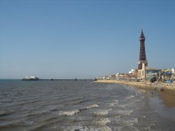 A summer afternoon in Blackpool, Lancashire